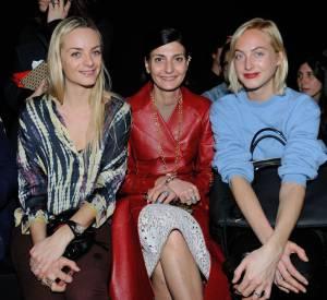 Giovanna Battaglia entourée des soeurs Courtin-Clarins chez Zadig & Voltaire.