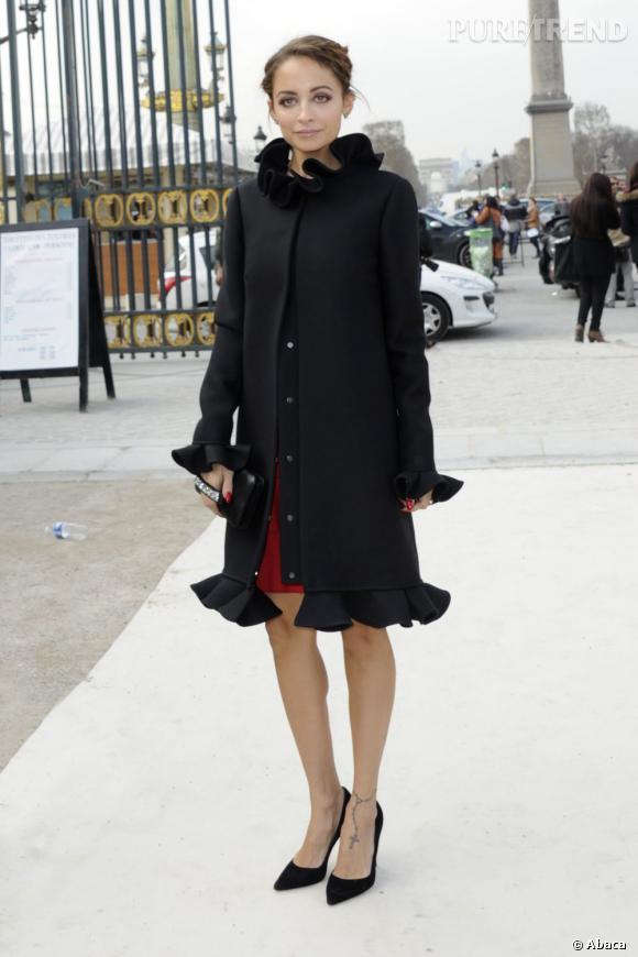 Nicole Richie à son arrivée chez Valentino.