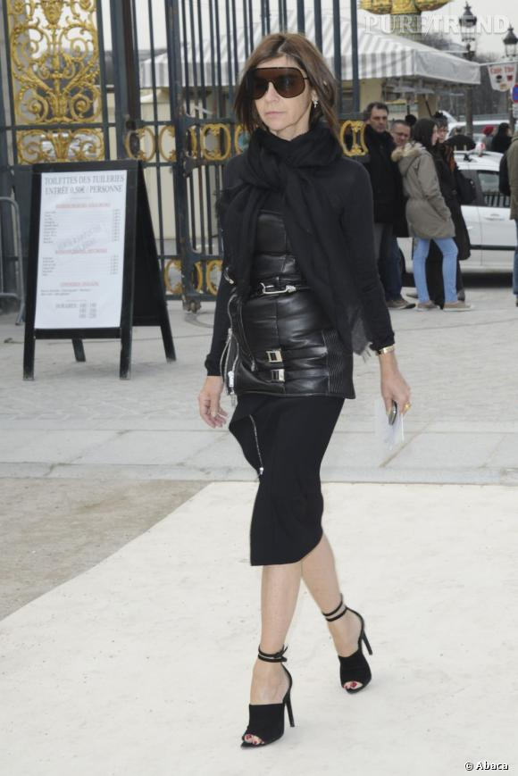 Carine Roitfeld au défilé Valentino.