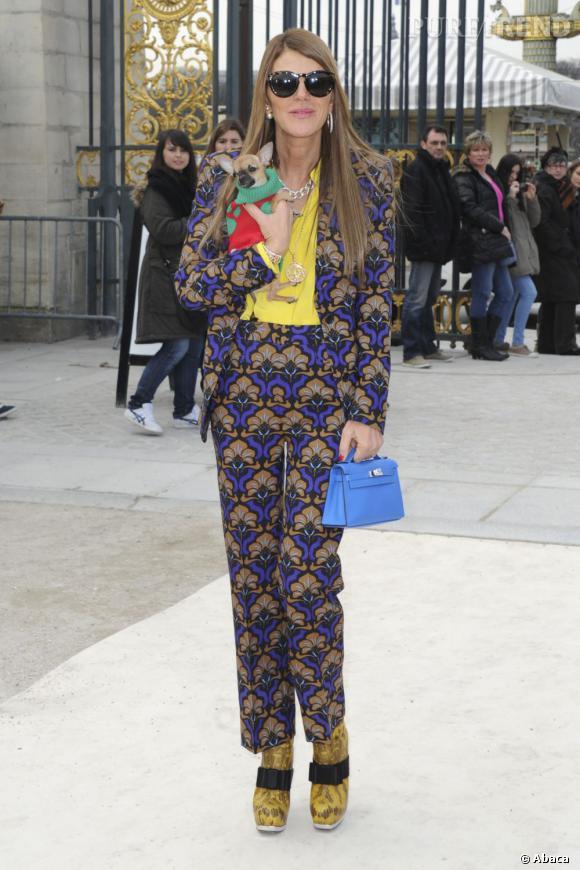 Anna Dello Russo en bonne compagnie pour le défilé Valentino.