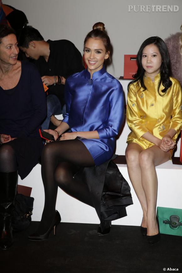 Jessica Alba front row chez Shiatzy Chen.