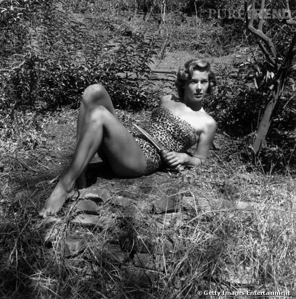 "Jane alias Vera Miles dans le film ""Tarzan's hidden jungle"" de Harold Schuster de 1954."