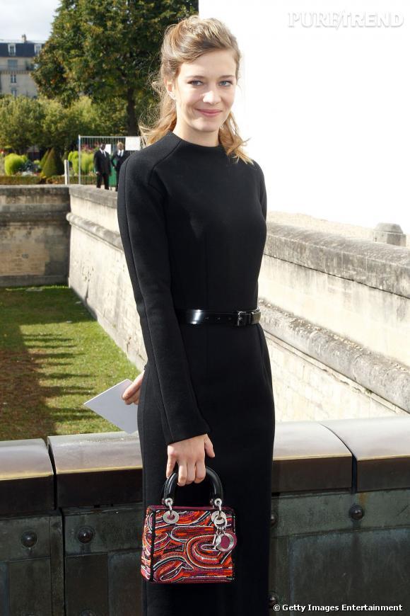 Céline Sallette, une petite frenchy que l'on retrouve à de nombreux défilés.