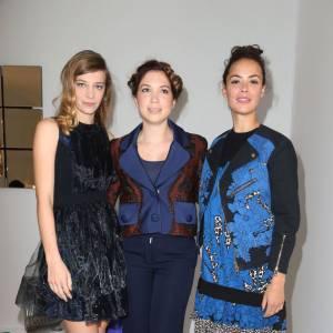 Céline Sallette avec Bérénice Bejo à qui elle succède cette année pour le prix Romy Schneider.