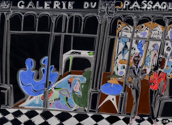 """"""" Vincent Darré de passage """" à la Galerie du Passage, du 29 Mars au 20 Avril, Passage Véro Dodat Paris Ier."""