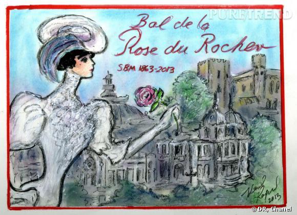 Le carton d'invitation du Bal de la Rose édition 2013.