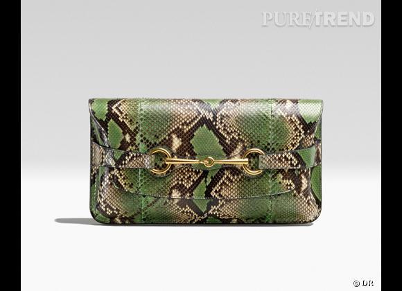Les it-bags du Printemps-Eté 2013      Pochette python, Gucci, 1400 €