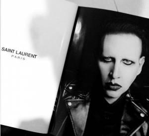 Marilyn Manson, nouvelle égérie chez Saint Laurent.