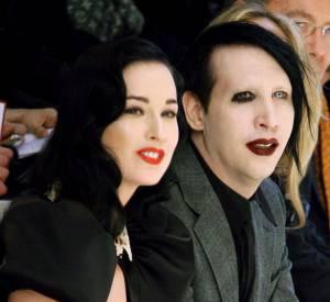 Marilyn Manson, nouvelle égérie Saint Laurent. Ici avec Dita Von Teese.