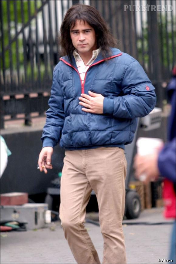 Le flop look de tournage :  Colin Farrell, les cheveux longs et la doudoune gonflé... L'horreur !