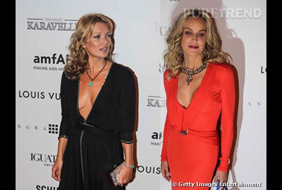 Kate Moss et Sharon Stone à l'Inspiration Gala de l'amfAR 2013 à Sao Paulo