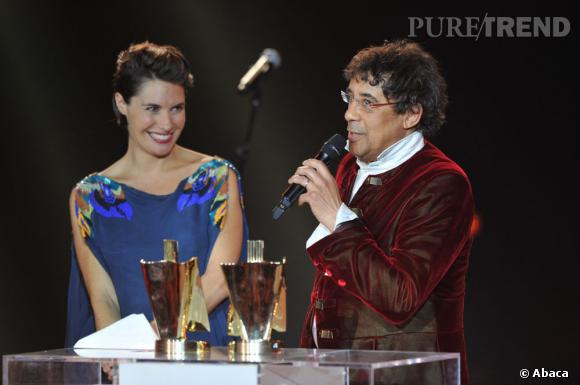 Alessandra Sublet lors des Victoires de la Musique en mars 2012.