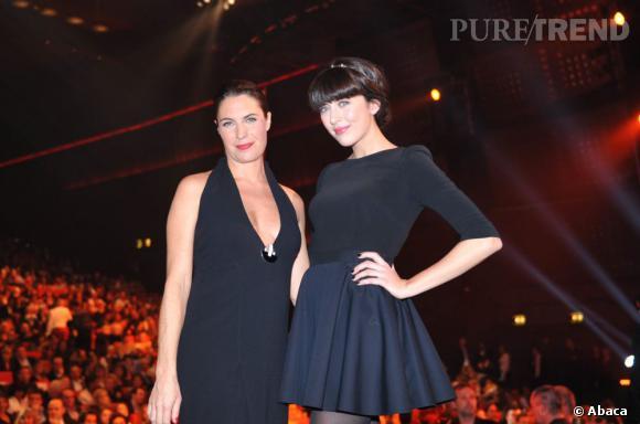 Alessandra Sublet et Nolwenn Leroy lors des Victoires de la Musique en mars 2012.
