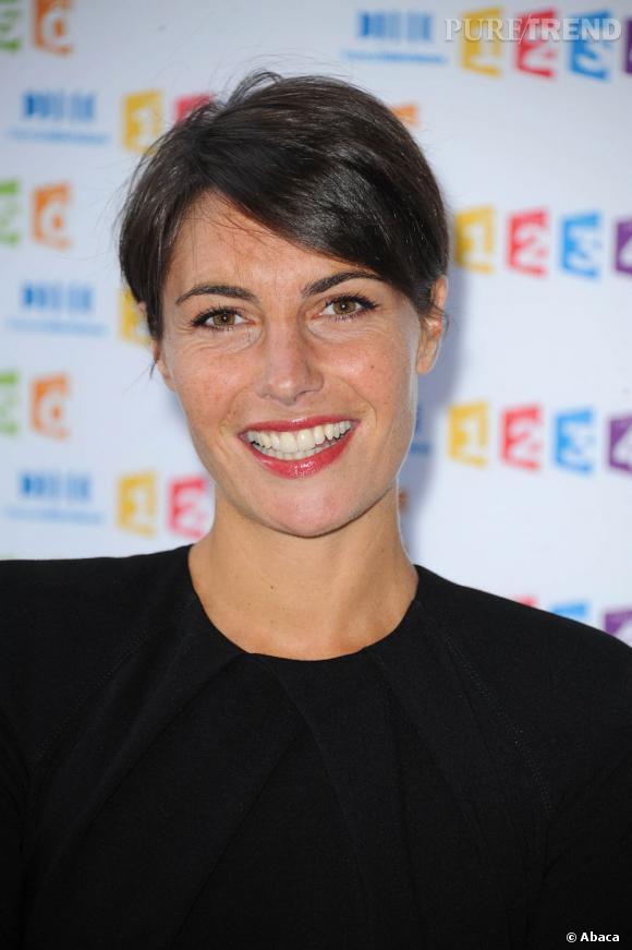 Alessandra Sublet lors d'un photocall France Télévisions en 2011.