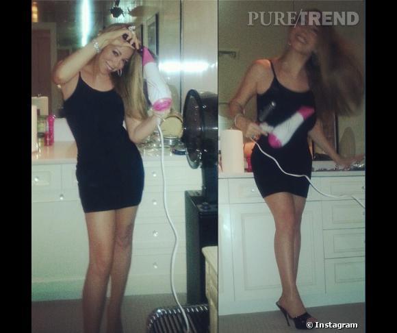 Mariah Carey sait se coiffer toute seule, comme une grande.