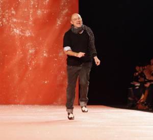 Christian Lacroix en 2007 pendant son défilé Printemps-Eté 2008.