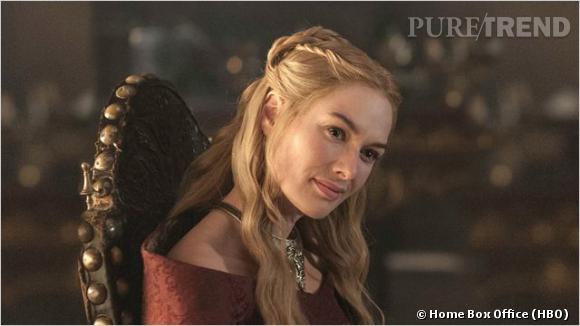 """La demi queue de cheval revisitée de Lena Headey dans """"Game of Thrones""""."""