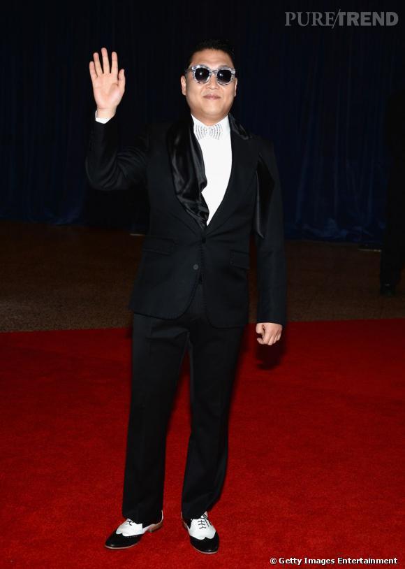 Psy au Dîner des Correspondants à la Maison Blanche à Washington.