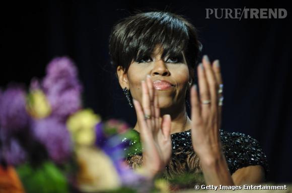 Michelle Obama au Dîner des Correspondants à la Maison Blanche à Washington.