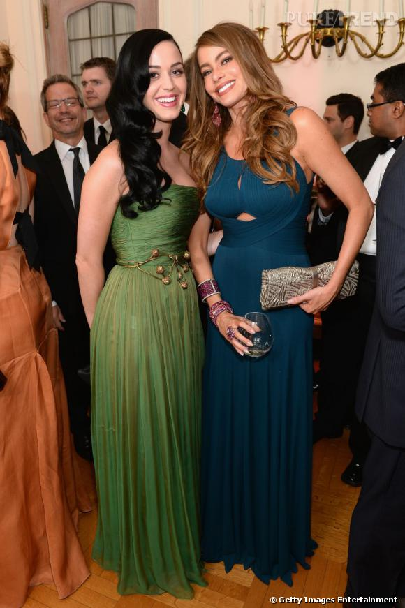 Katy Perry et Sofia Vergara au Dîner des Correspondants à la Maison Blanche à Washington.