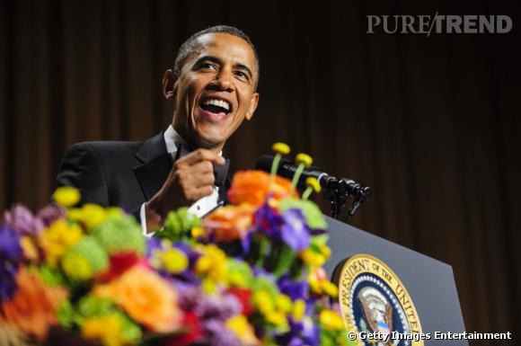 Barack Obama au Dîner des Correspondants à la Maison Blanche à Washington.