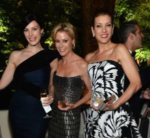 Jessica Paré, Julie Bowen en Monique Lhuillier et Kate Walsh en Carolina Herrera au Dîner des Correspondants à la Maison Blanche à Washington.