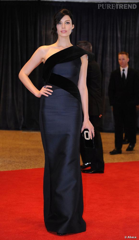 Jessica Paré en Antonio Berardi au Dîner des Correspondants à la Maison Blanche à Washington.