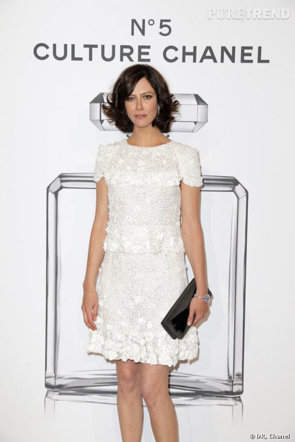 "Anna Mouglalis lors de l'inauguration de l'exposition ""N°5 Culture Chanel""."