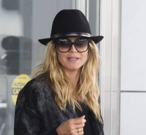 Heidi Klum : mannequin rock'n roll a l'aeroport...a shopper !