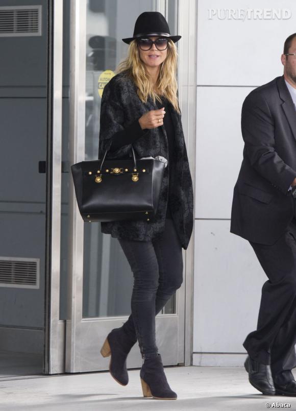 Heidi Klum à la sortie de l'aéroport JFK, le 6 mai 2013, à New York.