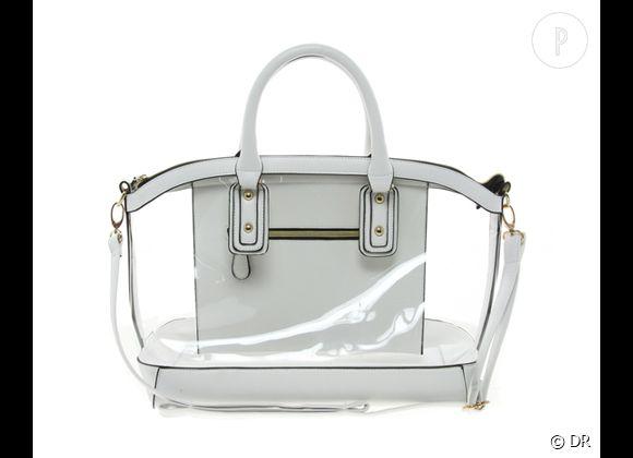 Des stars, aux podiums, à la rue : adoptez la tendance it-bag transparent    Sac New Look, environ 26 €