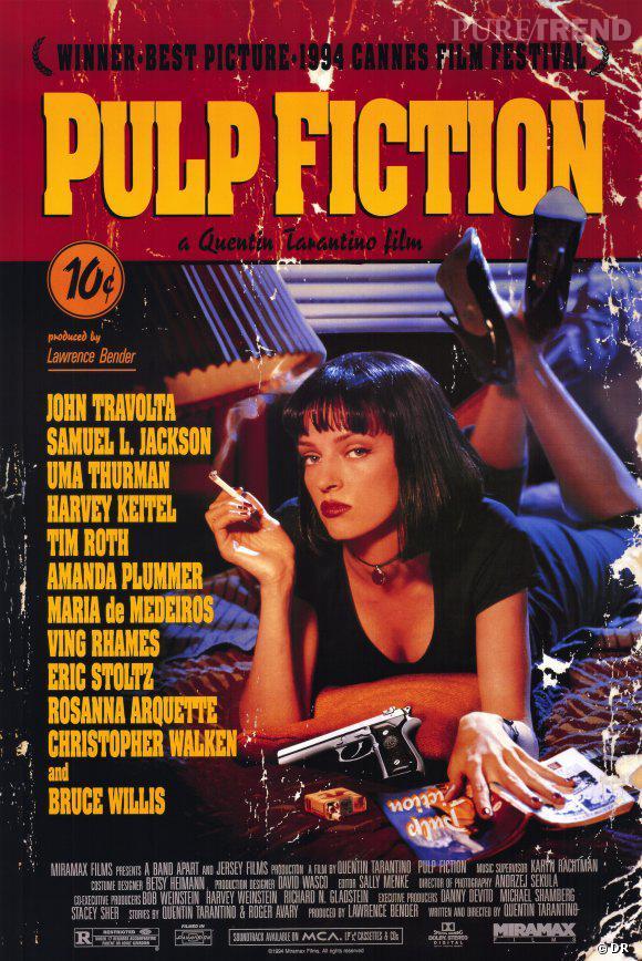 """Le film """"Pul Fiction"""" se hisse sur la première marche du podium ! Quentin Tarantino et Uma Thurman ont séduit les internautes de IMDb."""