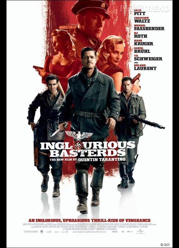 """""""Inglorious Basterds"""" en deuxième position : Quentin Tarantino semble être le chouchou des internautes !"""