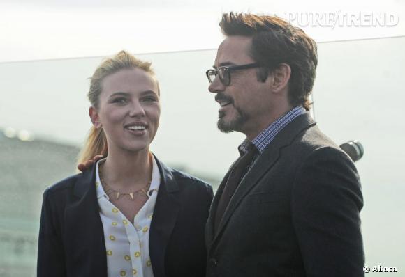 """Scarlett Johansson et Robert Downey Jr ont déjà joué ensemble dans """"Iron Man 2"""" et """"The Avengers""""."""