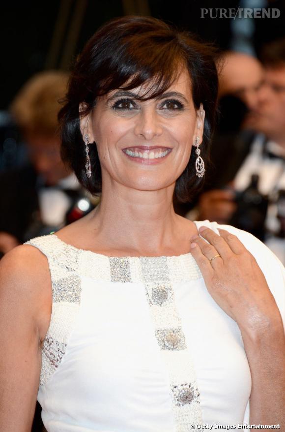 Inès de la Fressange, élégante et lumineuse lors de l'ouverture du Festival de Cannes.