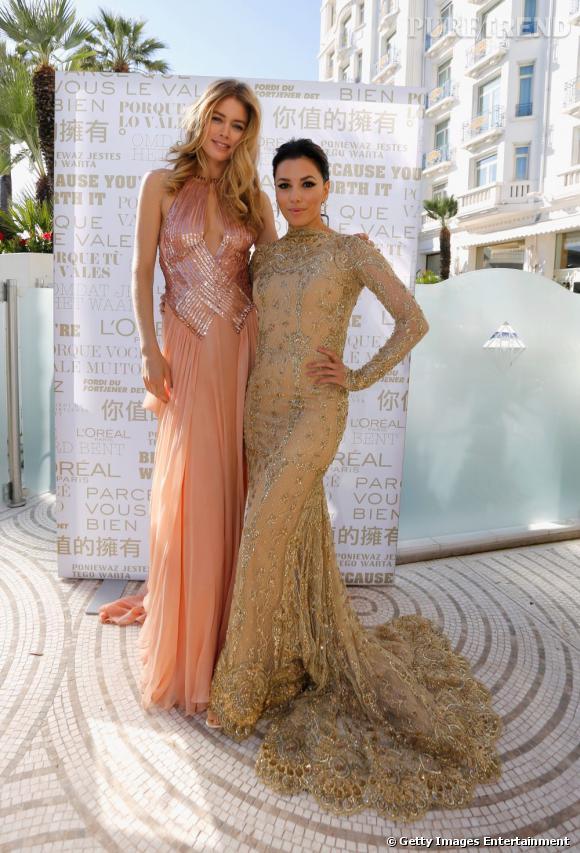 Doutzen Kroes et Eva Longoria, deux égéries glamour pour L'Oréal Paris.