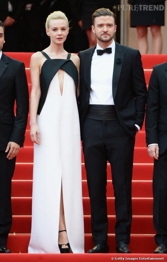 Carey Mulligan, en look minimaliste et Justin Timberlake, dans un style dandy, ont éclipsé le reste de l'équipe du film par leur glamour.
