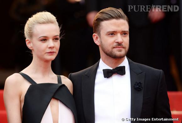 Carey Mulligan et Justin Timberlake dans un bel ensemble noir et blanc.