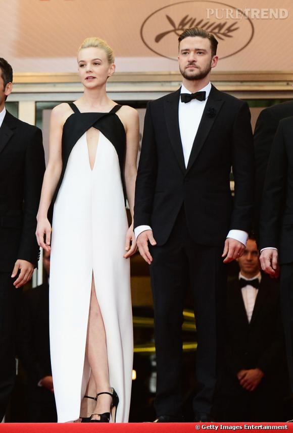 "Carey Mulligan et Justin Timberlake parfaitement assortis sur le tapis rouge pour ""Inside Llewyn Davis""."