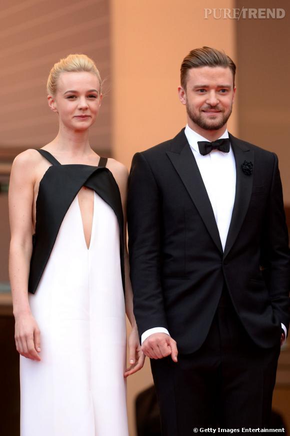 Carey Mulligan et Justin Timberlake se sont prêtés à la pause sous le feu des flashs, dans la bonne humeur.