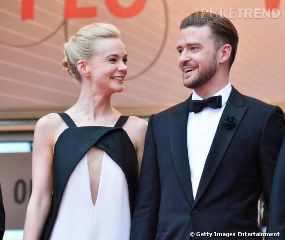 """Carey Mulligan et Justin Timberlake, duo glamour, lors de la première de """"Inside Llewyn Davis"""" des frères Coen, au Festival de Cannes, le 19 mai 2013."""