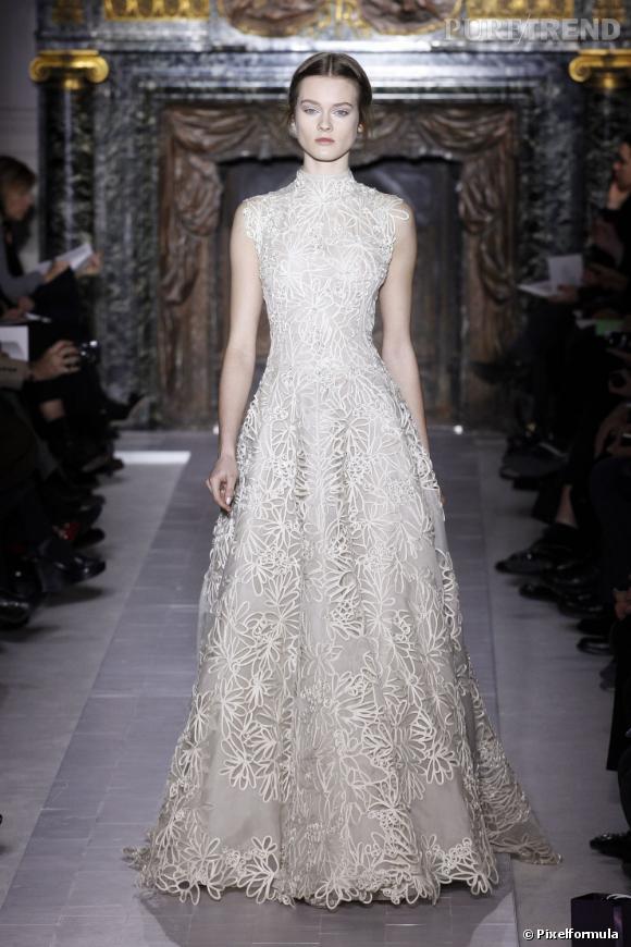 La robe Valentino Haute Couture choisie par Nicole Kidman, lors du défilé.