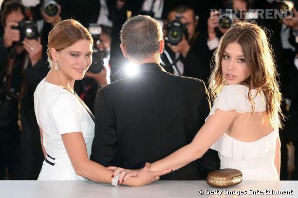 Léa Seydoux aux côtés d'Adèle Exarchopoulos en Gucci.