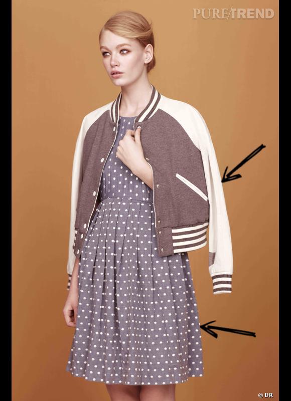 Comment porter la tendance sporty chic ce Printemps-Eté 2013 ?      Comme chez Asos en adoptant le teddy avec une robe.      Lookbook SS2013