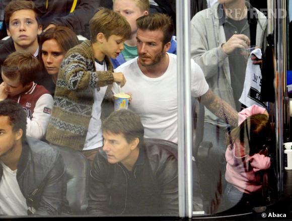 David Beckham en a aussi profité pour retrouver ses fils.