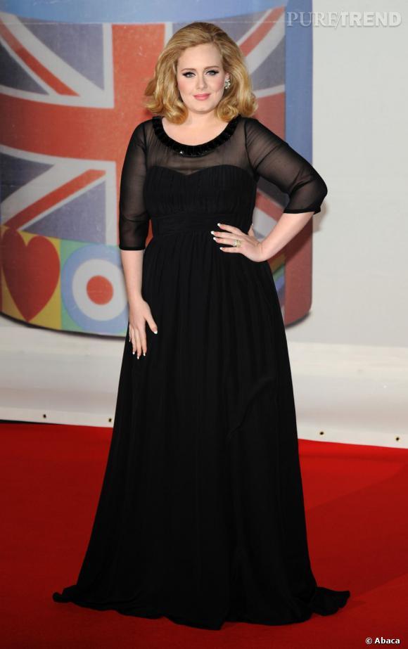 Adele qui porte des gaines : comme presque toutes les stars sur tapis rouge.