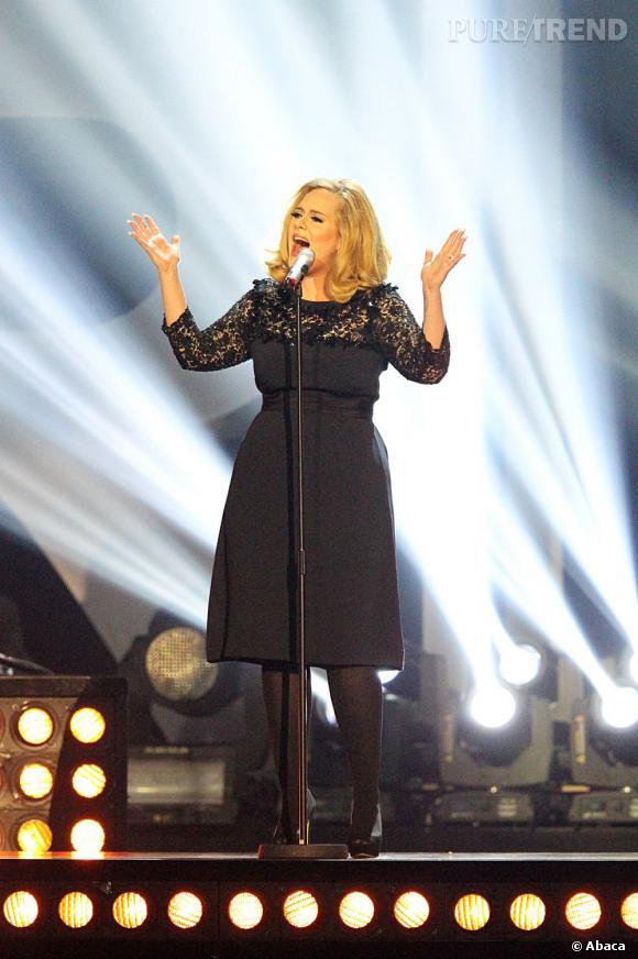 Adele lors des Brit Awards 2012.