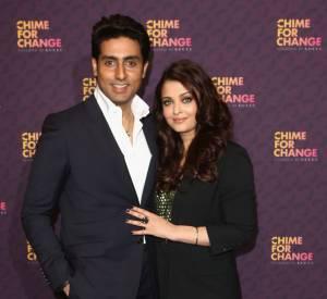 "Abhishek Bachchan et Aishwarya Rai Bachchan au concert exceptionnel ""The Sound of Change Live""."