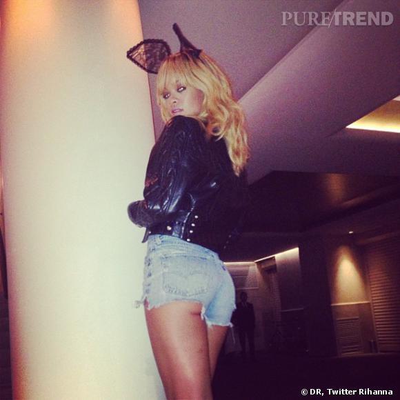 Rihanna très sexy pour aller dans une soirée au Crazy Horse.