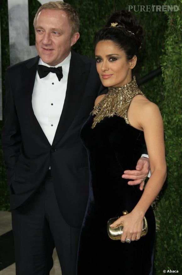 Salma Hayek et François-Henri Pinault forment un couple très glamour.